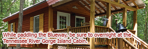 Tennessee River Gorge Island Cabin, Chattanooga, Tennessee