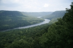 View of the Tennessee River Gorge from Snoopers Rock in Prentice Cooper State Forest